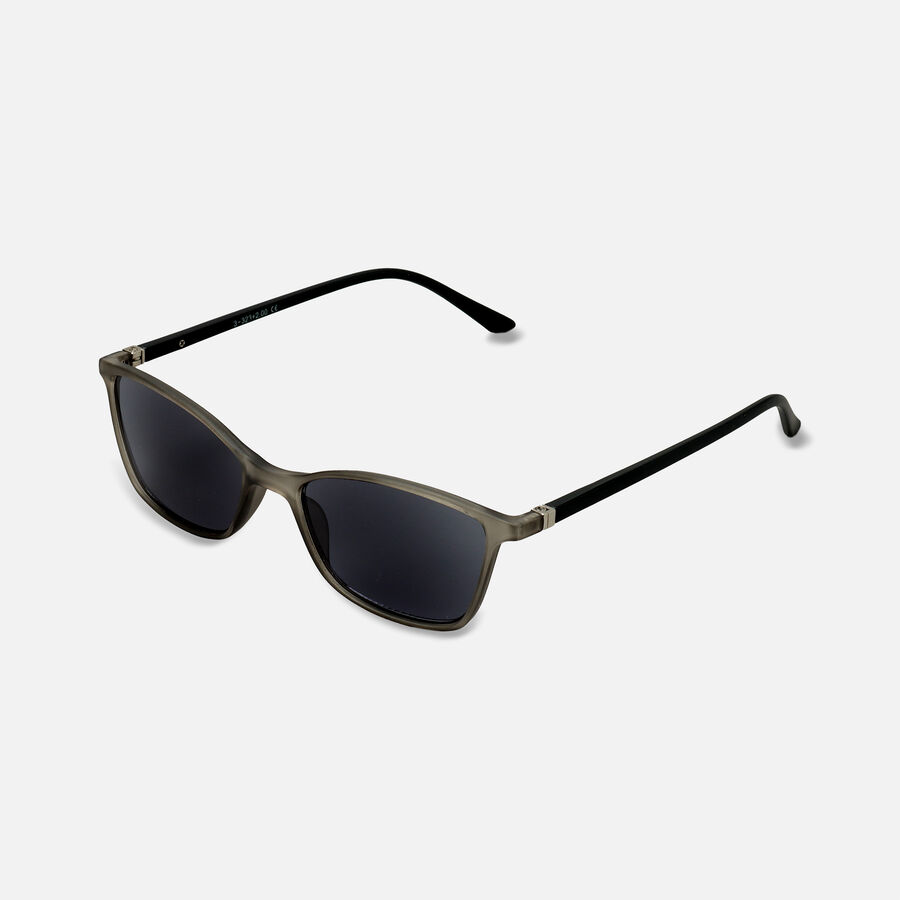 Sunglass Reader with Smoke Tint, Matte Crystal Gray, , large image number 5
