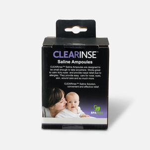 CLEARinse Nasal Cleaning Aspirator Saline Ampoules, 50-Pack