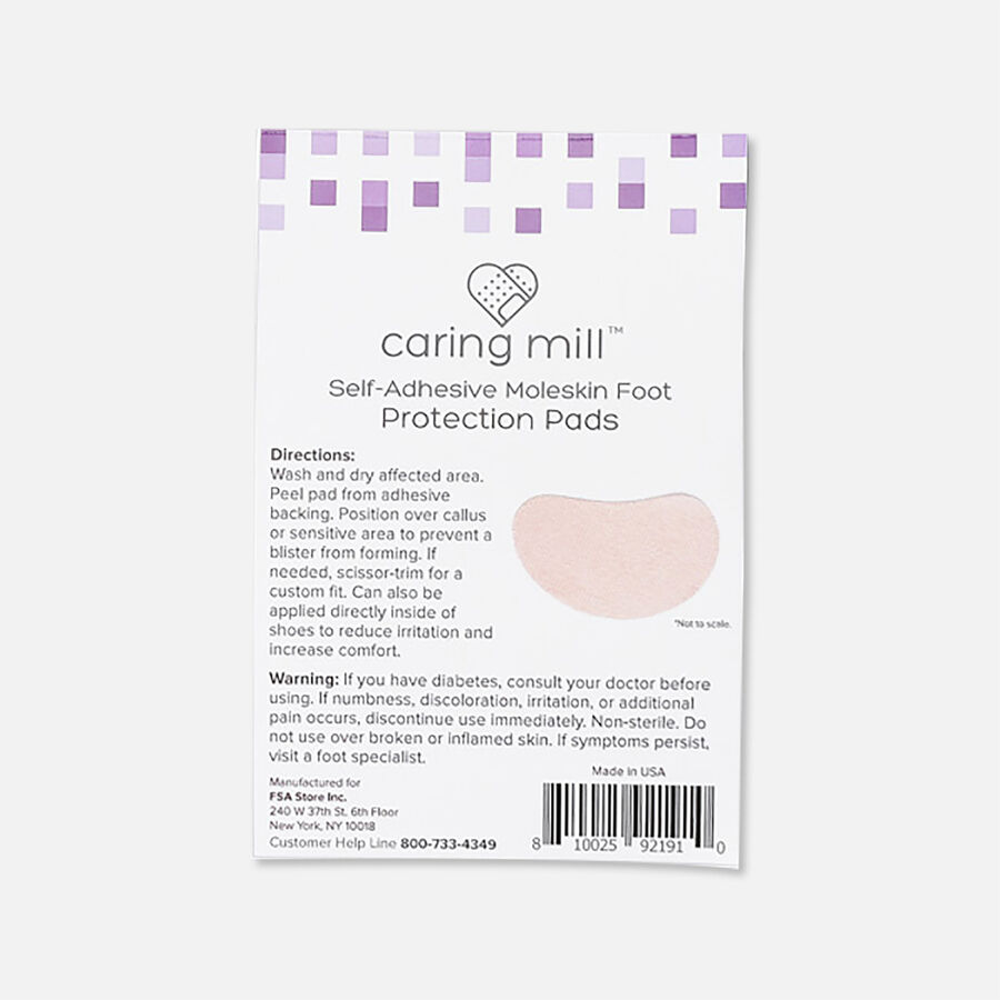 Caring Mill™ Self-Adhesive Moleskin Foot Protection Pads 6 ct, , large image number 2