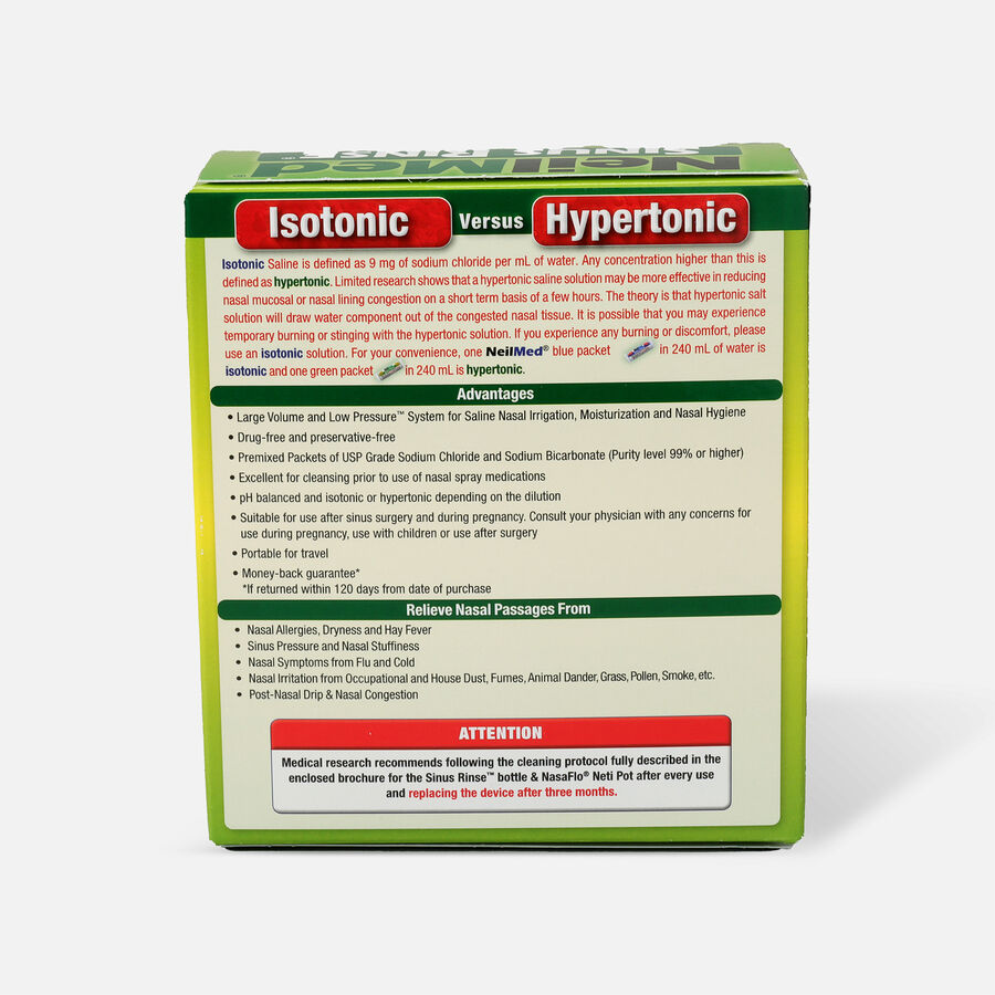 NeilMed Sinus Rinse Hypertonic Packets For Soothing Saline Nasal Rinse - 70 Each, , large image number 1