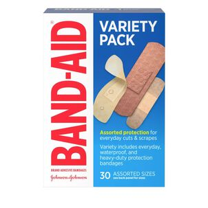Band-Aid Variety Adhesive Bandages, Assorted, 30 ct
