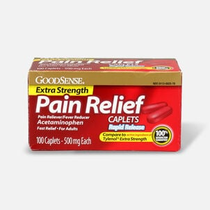 GoodSense® Pain Relief Extra Strength 500 mg Rapid Release Caplets