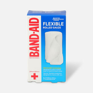 Band Aid First Aid Products Secure Gauze Roll and Wound Care Dressing, 3 in x 2.5 yd