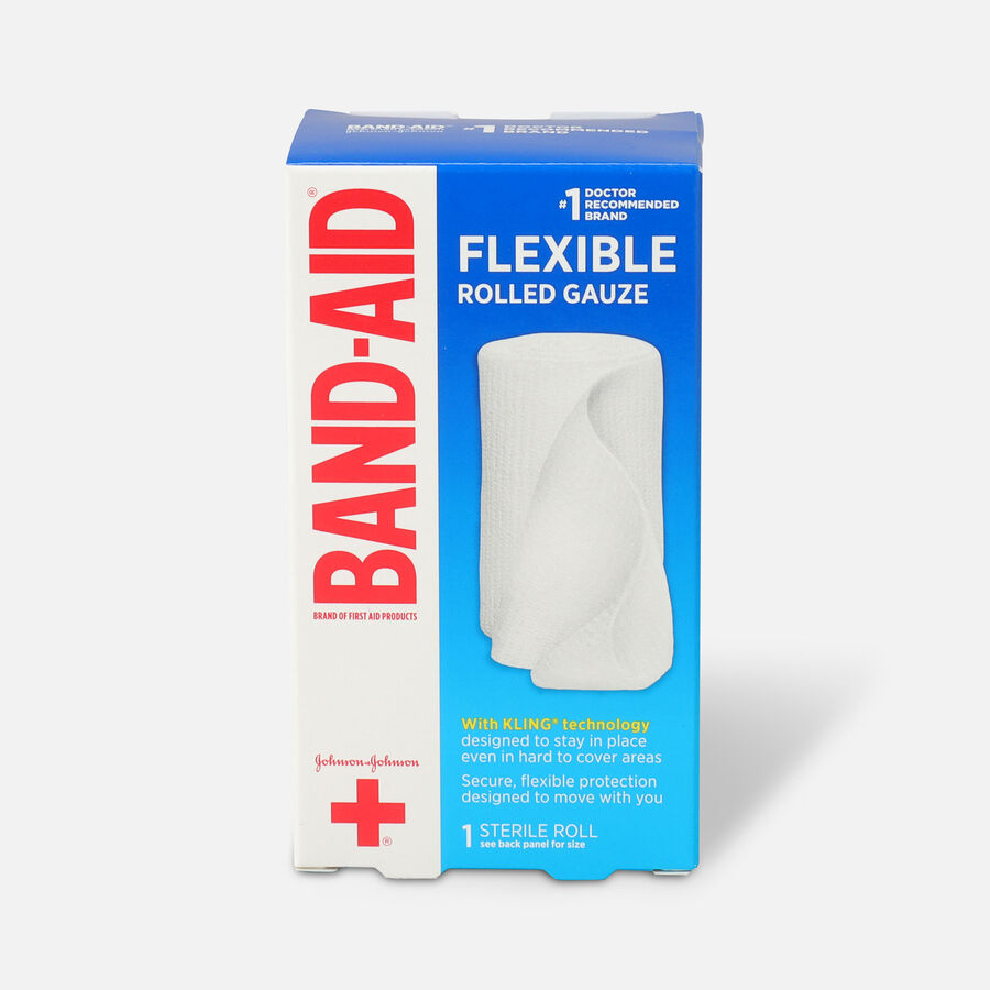 Band Aid First Aid Products Secure Gauze Roll and Wound Care Dressing, 3 in x 2.5 yd, , large image number 0