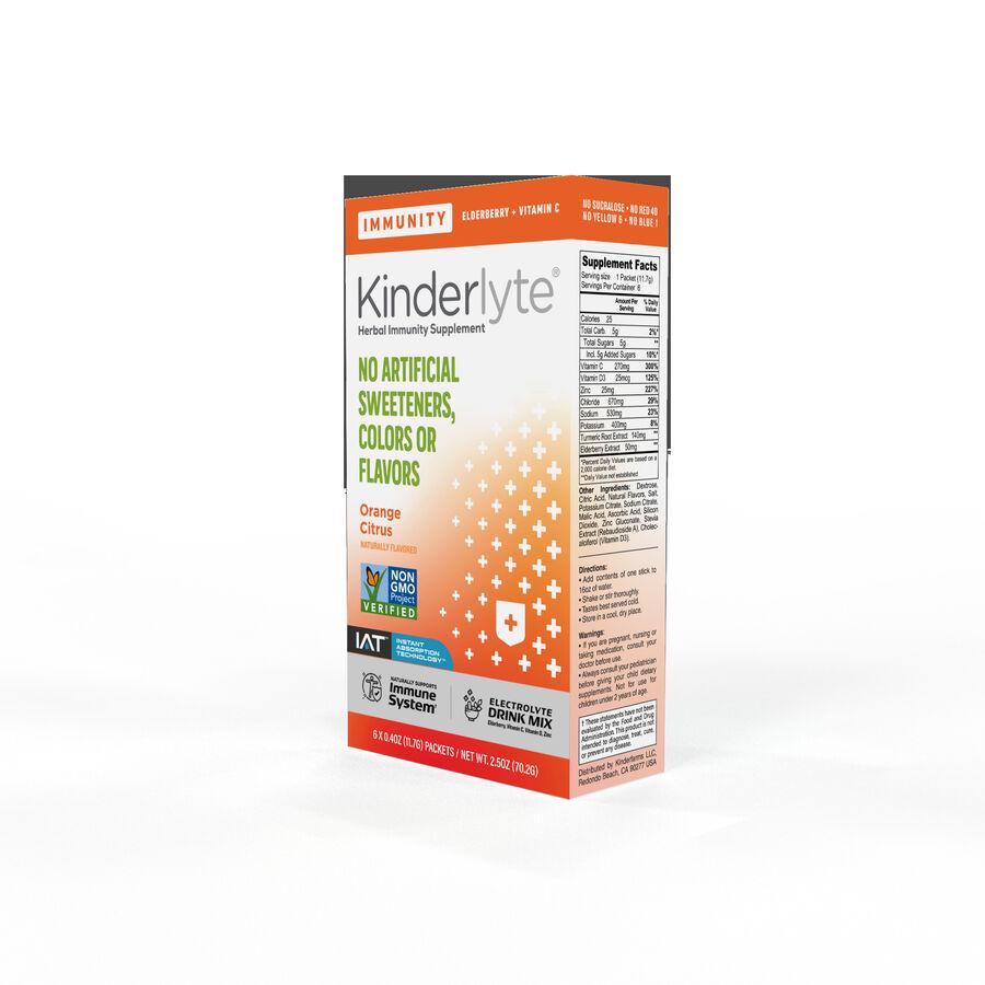 Kinderlyte Herbal Immunity Supplement Powder Orange Citrus, 6 Count, , large image number 2