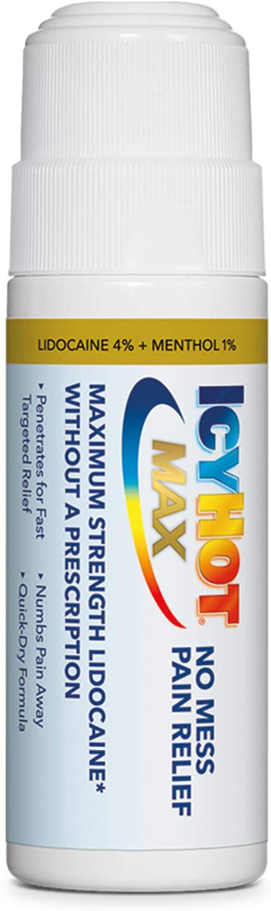 Icy Hot Max With Lidocaine + Menthol, Roll-On, 2.5 oz, , large image number 3