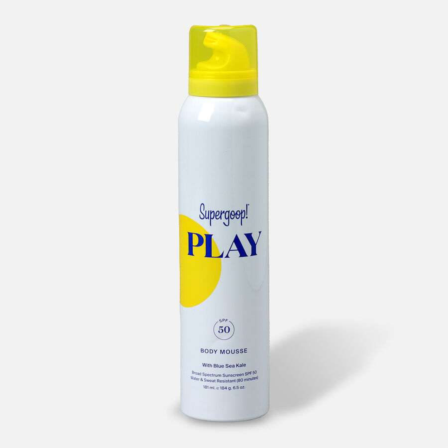 Supergoop! PLAY Body Mousse SPF 50 with Blue Sea Kale, , large image number 1