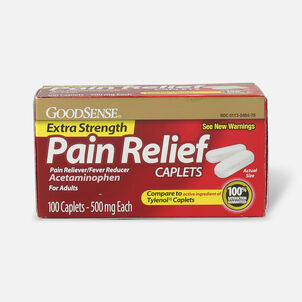 GoodSense® Extra Strength Acetaminophen 500 mg Caplets, 100 ct