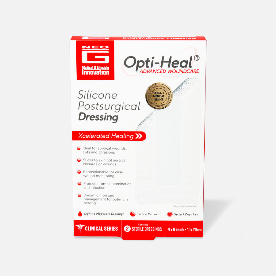 Neo G Silicone Postsurgical Dressing, 2ct, , large image number 0