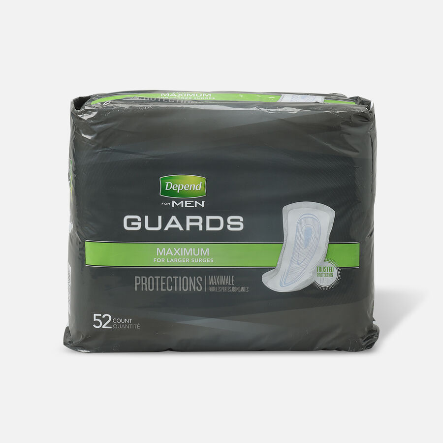 Depend Incontinence Guards for Men, Maximum Absorbency, 52 ea, , large image number 0