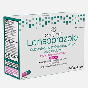 Caring Mill™ Lansoprazole Delayed-Release Capsules, 14 ct