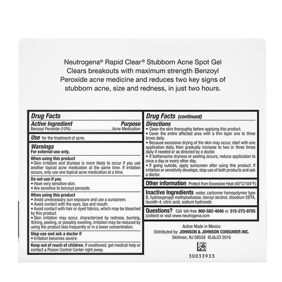 Neutrogena Rapid Clear Stubborn Acne Spot Gel, 1oz, , large image number 3