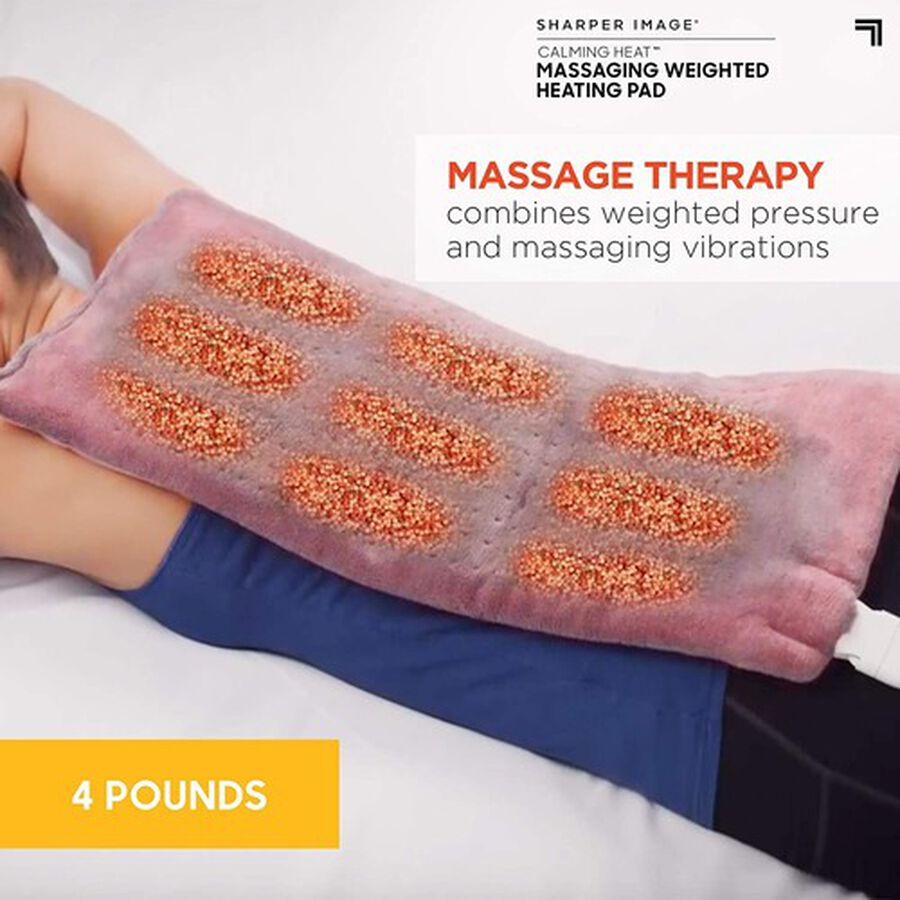 """Calming Heat Massaging Weighted Heating Pad, 12"""" x 24"""", 4 lbs, , large image number 2"""