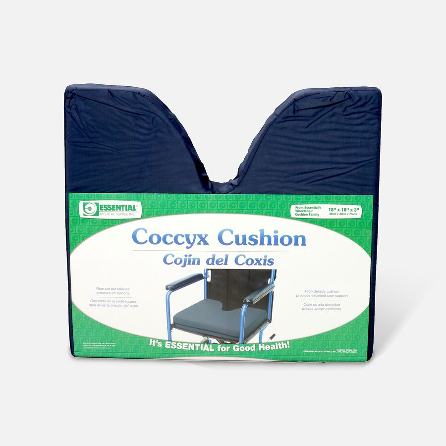 Essential Medical Supply Coccyx Cushion, 18x16x3, , large image number 0