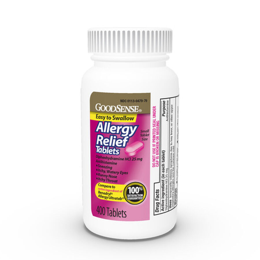 GoodSense® Allergy Relief Diphedryl 25 MG Tablets 400 ct, , large image number 0