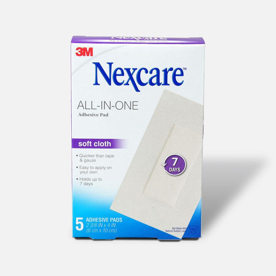 "Nexcare Soft Cloth Premium Adhesive Pad 2 3/8"" x 4"" - 5ct, , large image number 0"
