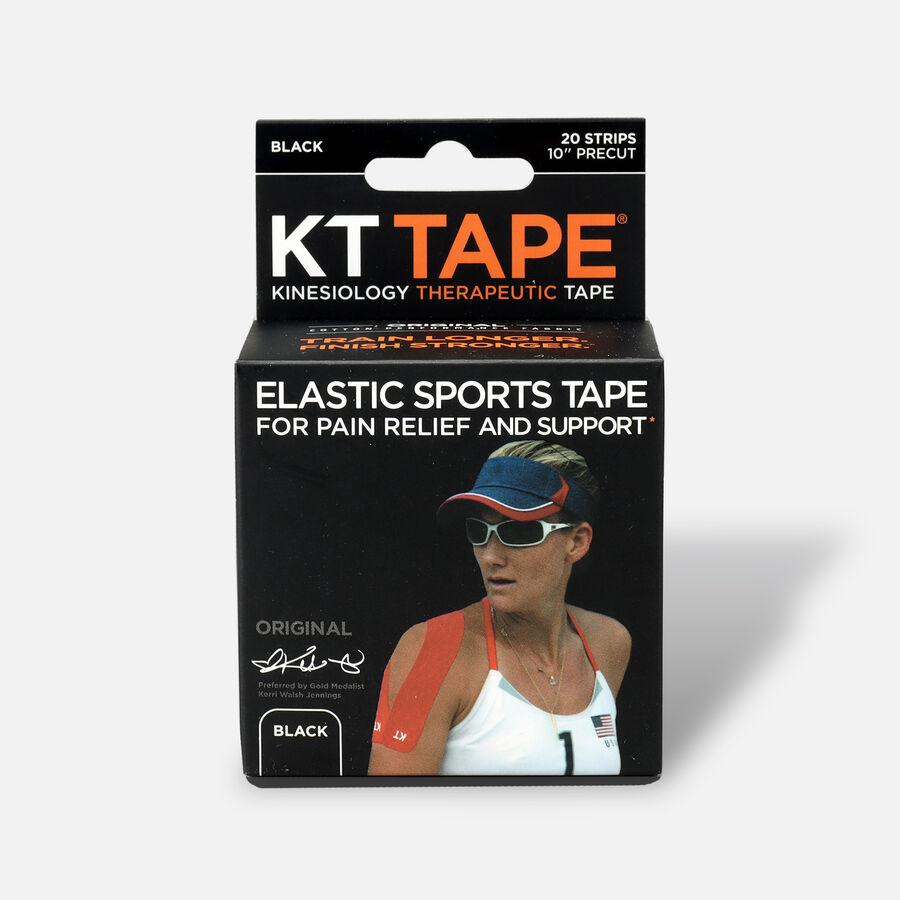 KT TAPE Original, Pre-cut, 20 Strip, Cotton, Black, Black, large image number 0
