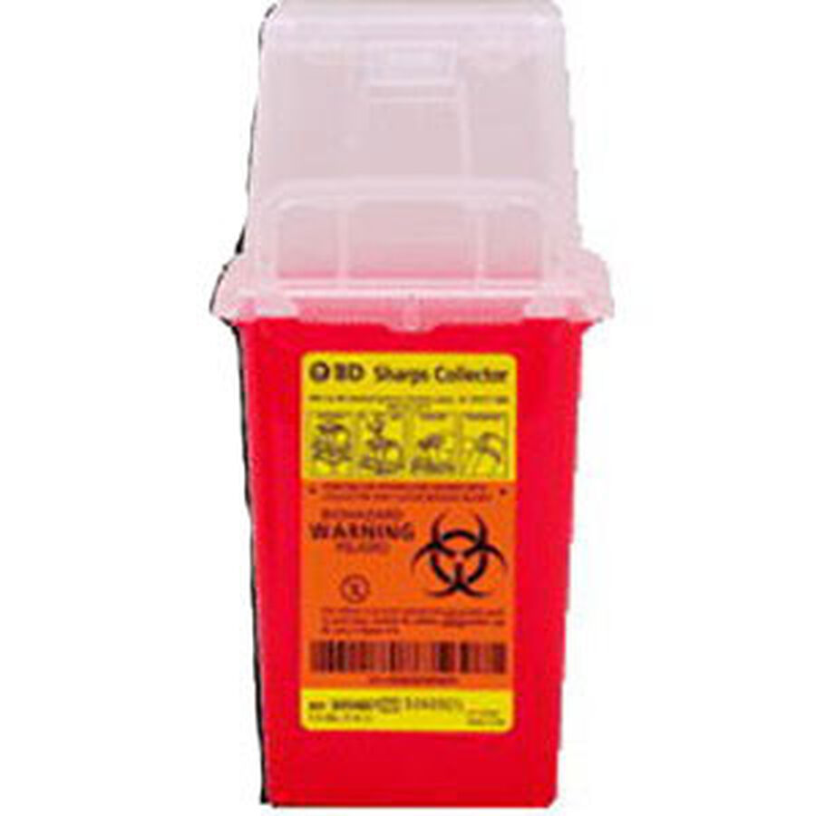"1.5 Qt Nestable Sharps Container, 9"" X 4.5"" X 4"", 1 ea, , large image number 0"