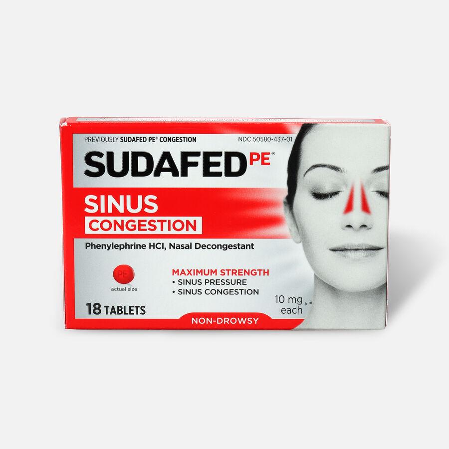Sudafed PE Sinus Congestion Tablet, 18ct, , large image number 0