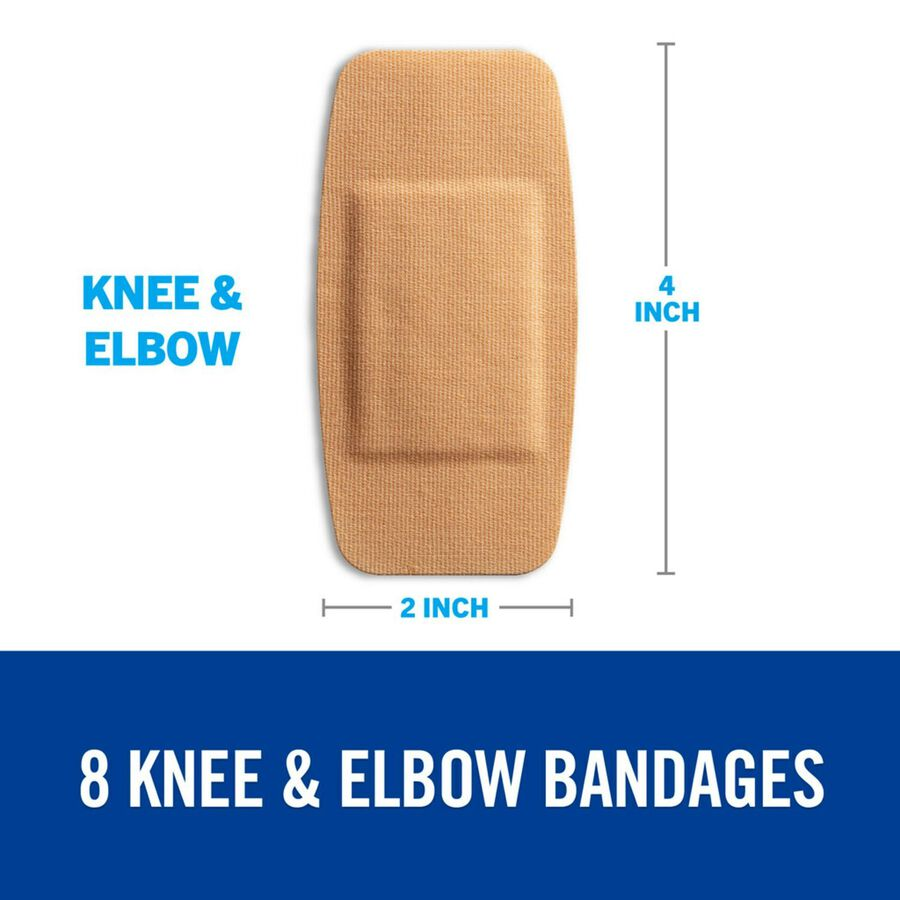 Nexcare DUO Bandage, Knee and Elbow, 8ct, , large image number 2