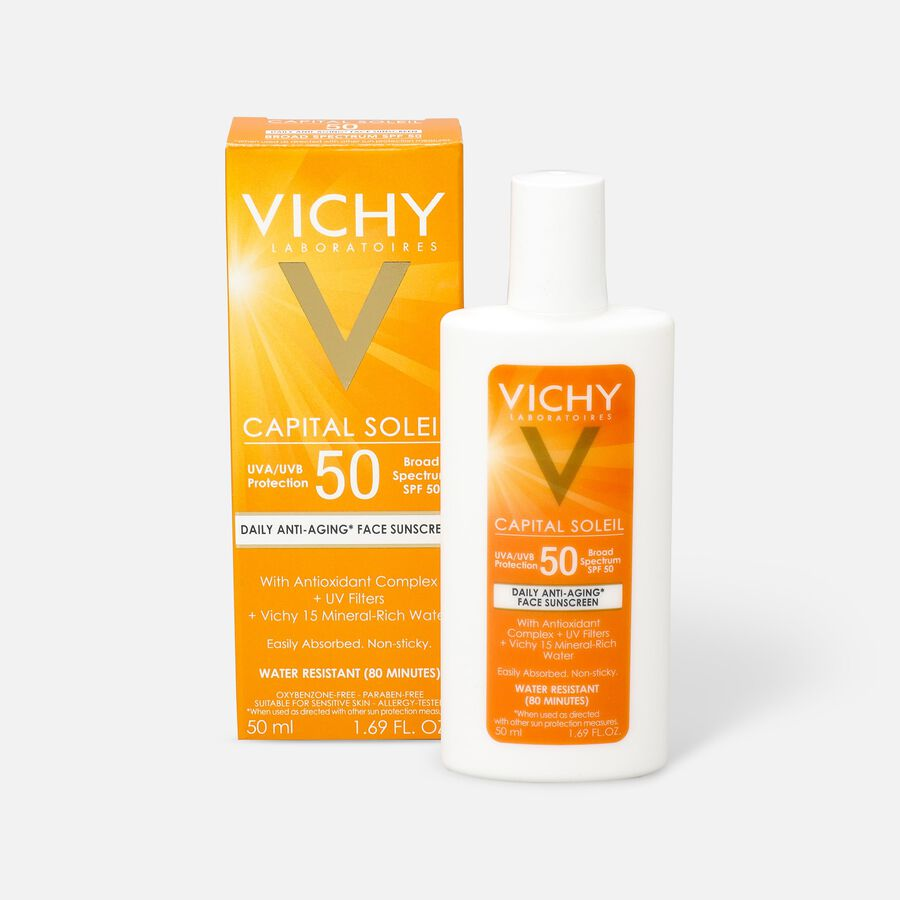 Vichy Idéal Capital Soleil SPF 50 Ultra-Light Face Sunscreen with Antioxidants and Vitamin E, 1.7 Fl. Oz., , large image number 0