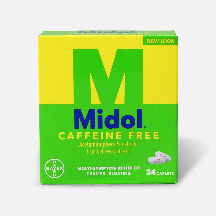 Midol Caffeine Free Caplets, 24 ct, , large image number 0