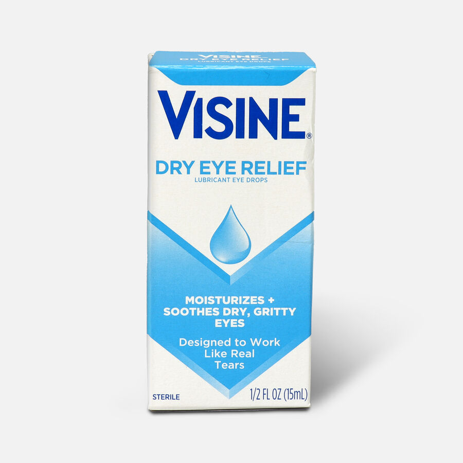 Visine Dry Eye Relief Lubricating Eye Drops for Dry Eyes, 0.5 fl. oz, , large image number 0