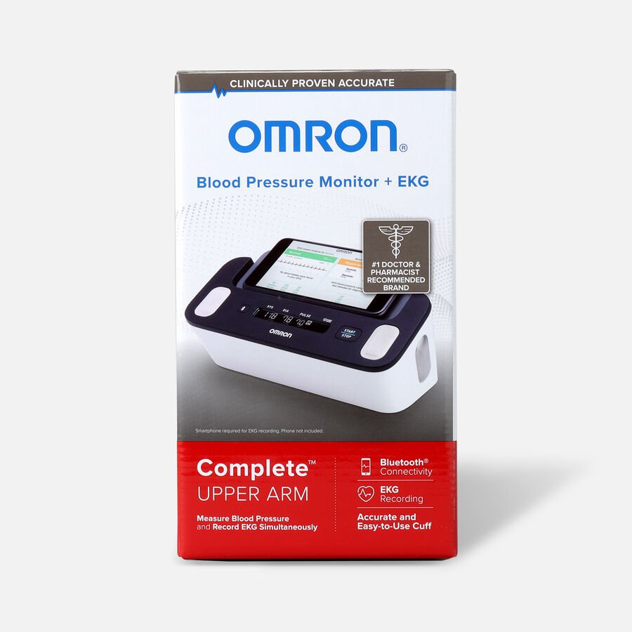 Omron Complete Wireless Upper Arm Blood Pressure Monitor + EKG, , large image number 0