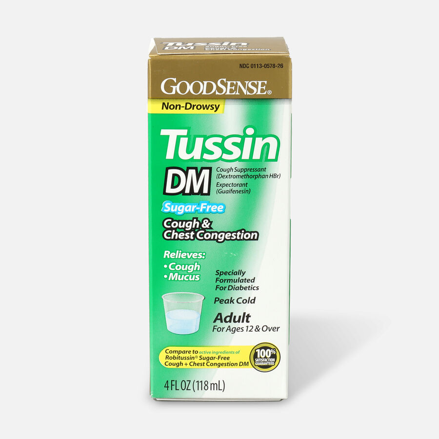 GoodSense® Tussin DM Cough Syrup 4 oz, Sugar and Alcohol-Free, , large image number 0