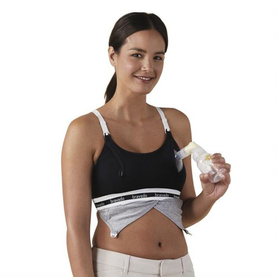 Clip and Pump Hands-Free Nursing Bra Accessory, Black, , large image number 1