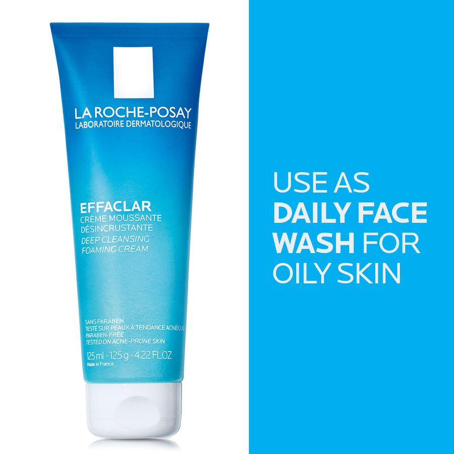La Roche-Posay Effaclar Deep Cleansing Foaming Cream Cleanser, 4.22 oz, , large image number 4