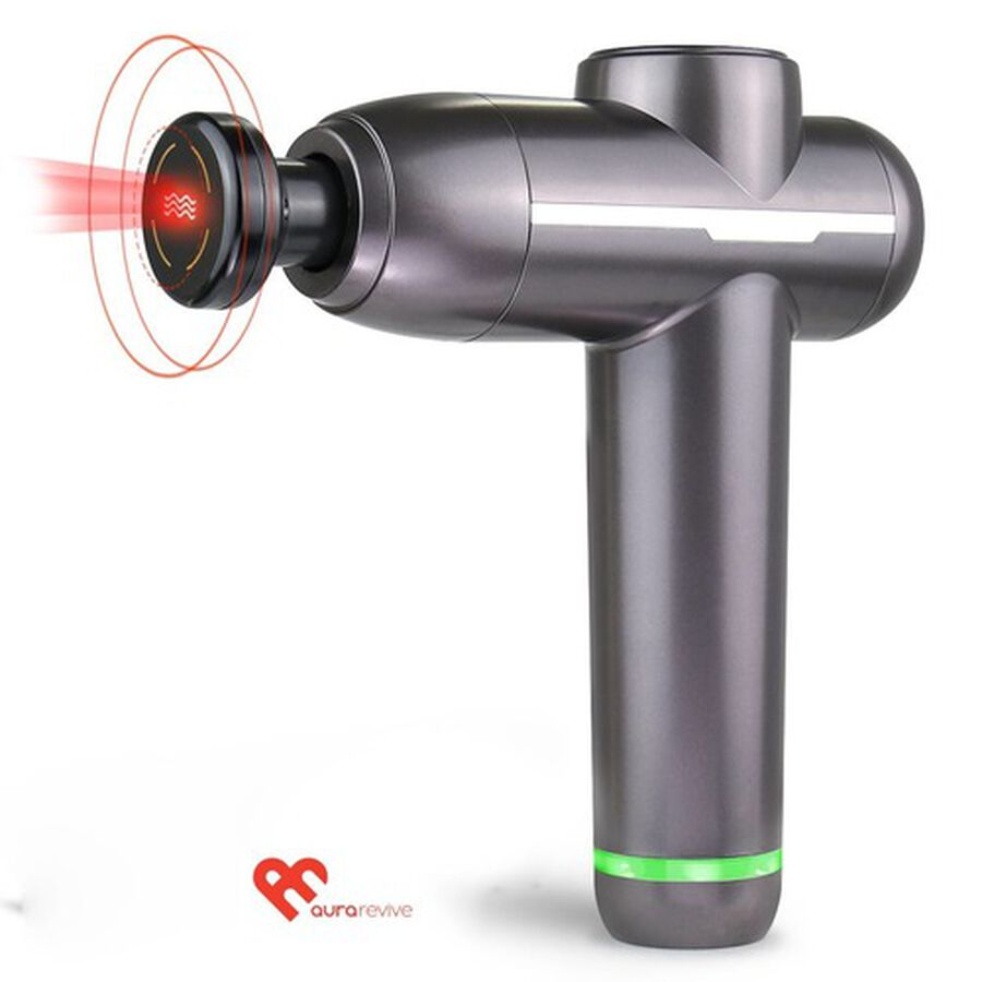 Aura Revive Deep Muscle and Joint Pain Relieving Massage Gun with Heat Therapy, , large image number 0