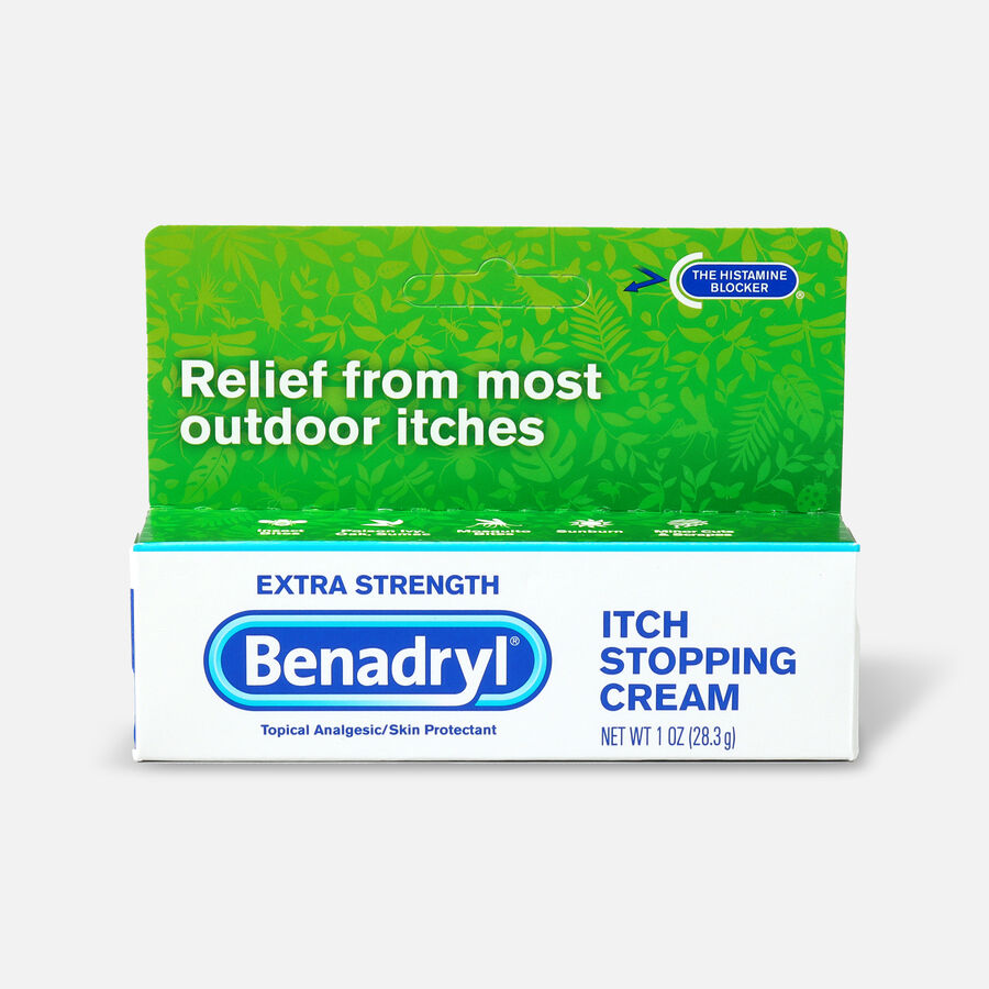 Benadryl Itch Stopping Cream, Extra Strength, 1 oz, , large image number 0