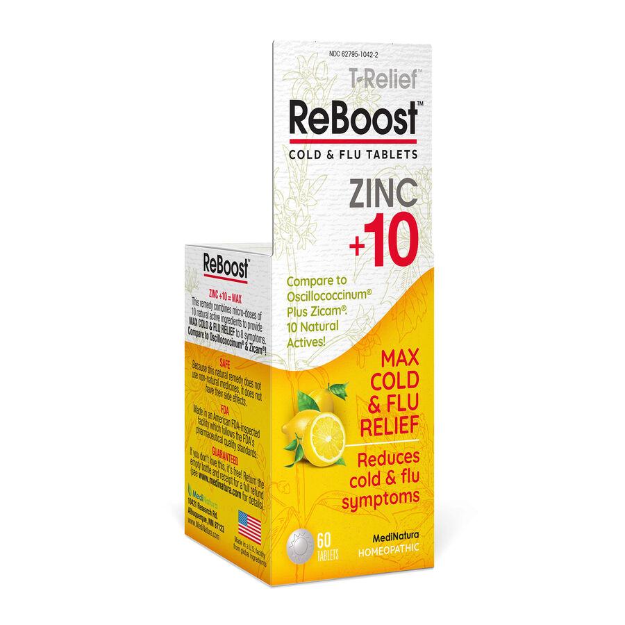 ReBoost Zinc +10 Cold & Flu Tablets, Lemon, , large image number 0