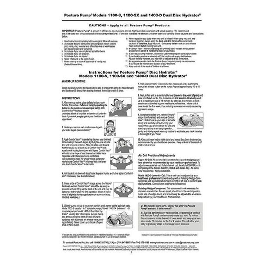 Posture Pump® Neck Pump® Single Neck Air Cell, Model 1100-S, , large image number 8