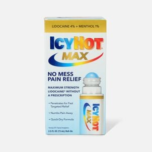 Icy Hot Max With Lidocaine + Menthol, Roll-On, 2.5 oz