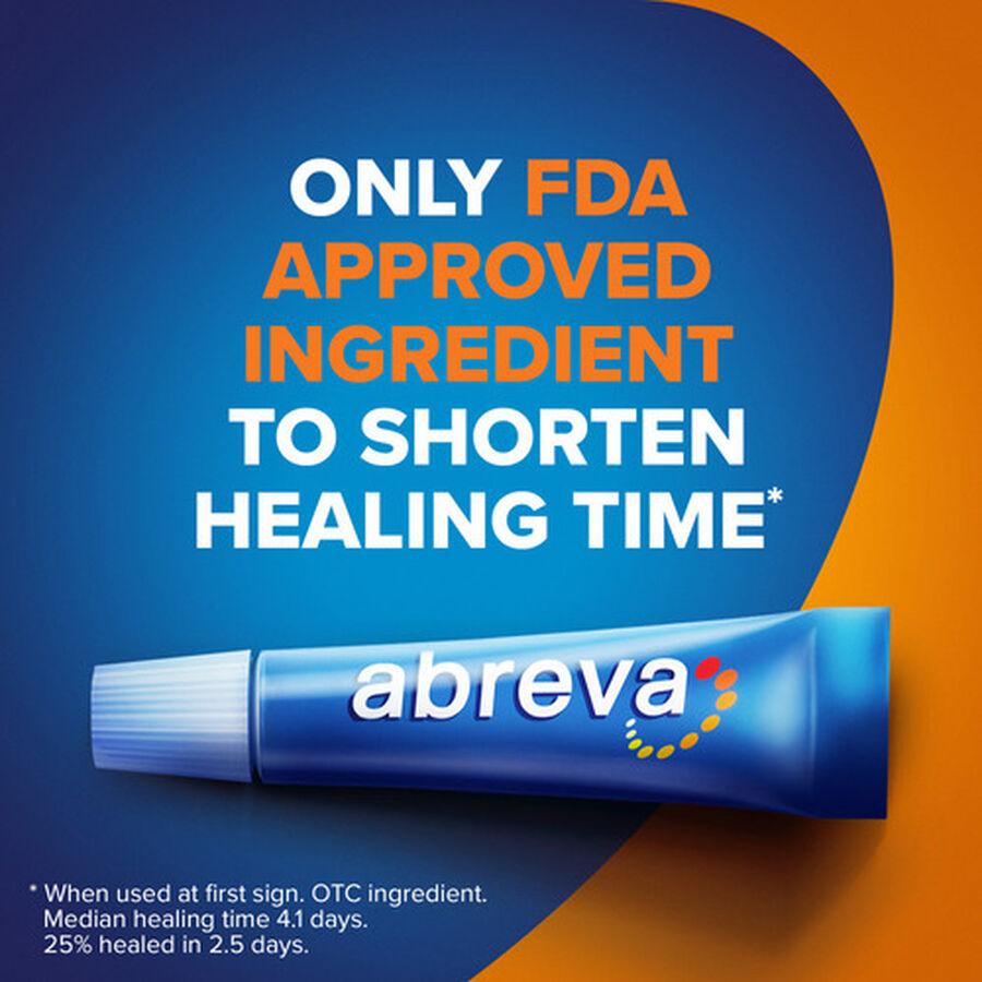 Abreva, Docosanol 10% Cream Tube, Treatment for Cold Sore/Fever Blister, 2g, , large image number 3