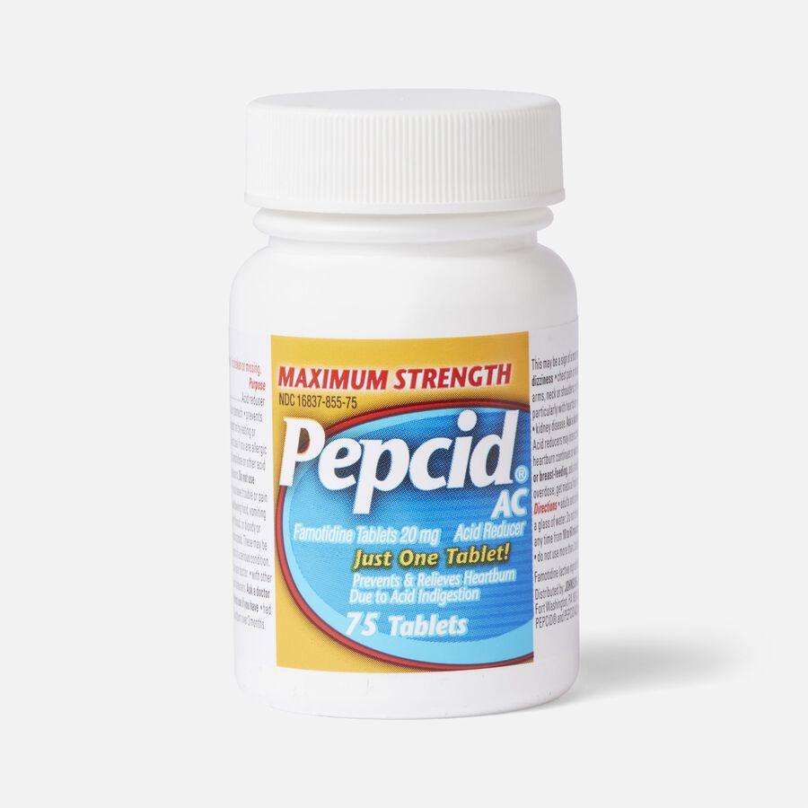 Pepcid AC Acid Reducer Maximum Strength Tablets, 75 ct, , large image number 1