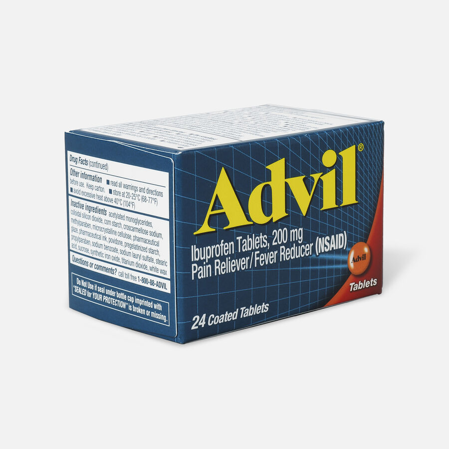 Advil Pain Reliever and Fever Reducer Coated Tablets, 200mg, 24 ct, , large image number 3
