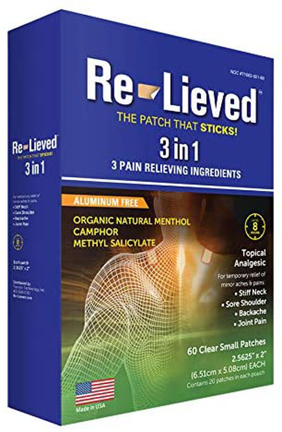 Re-Lieved 3-in-1 Pain Relief Patches, 60 ct, , large image number 0
