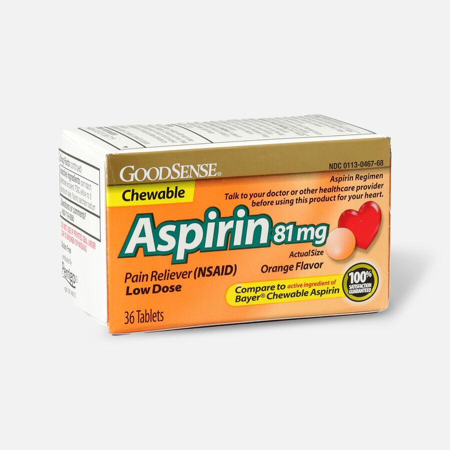 GoodSense® Aspirin 81 mg Low Dose Chewable Tablets, , large image number 5
