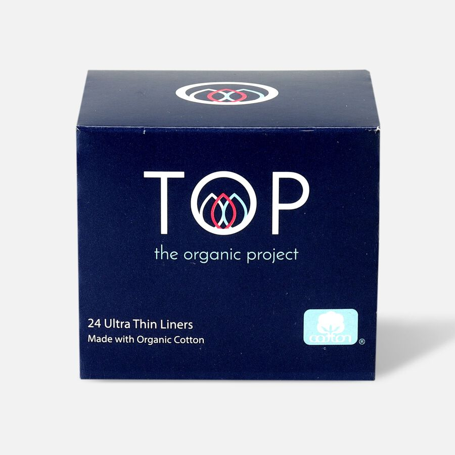 TOP Organic Cotton Ultra Thin Panty Liners, Light, 24 ct, , large image number 0