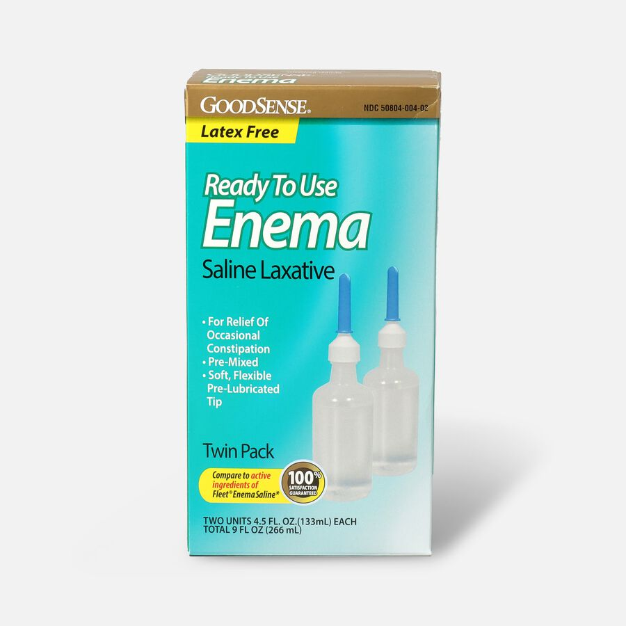 GoodSense® Ready To Use Enema Saline Laxative, 2 (4.5 fl oz units), , large image number 0