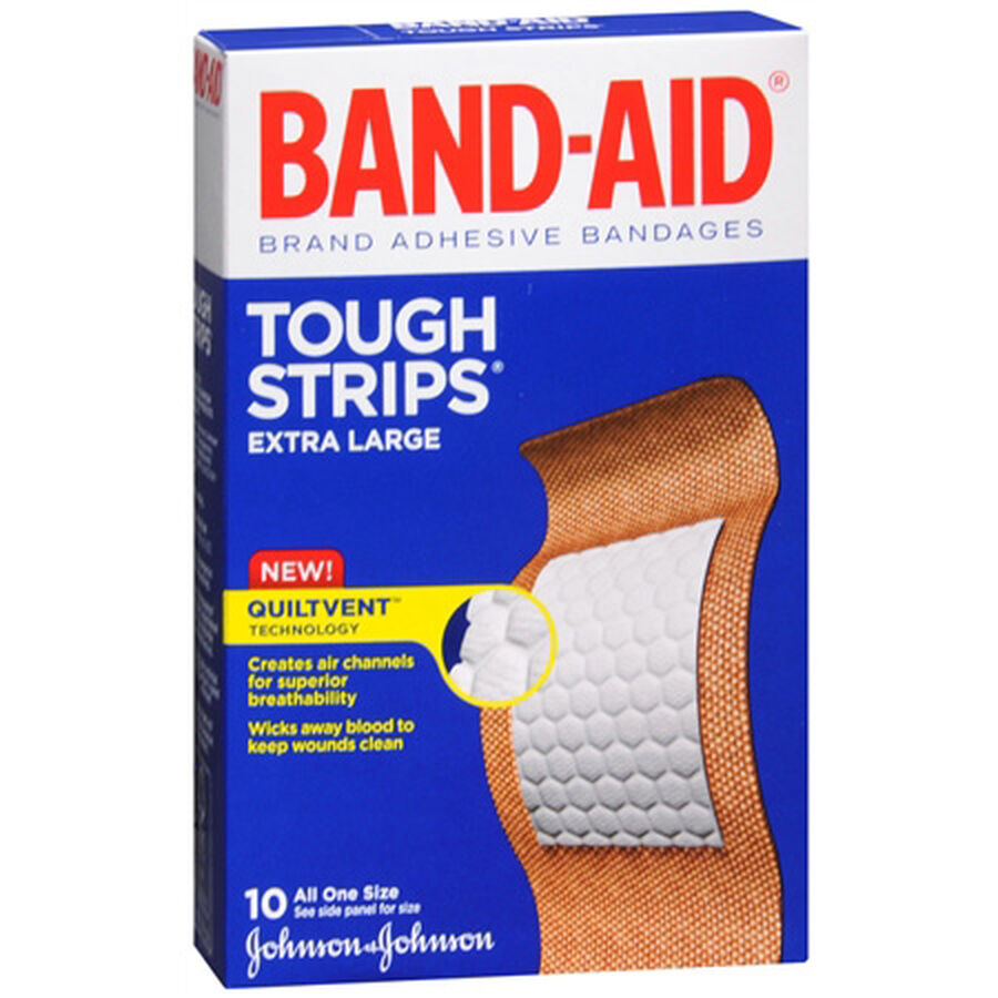 Band-Aid Tough-Strips, Extra Large, 10 ea, , large image number 0