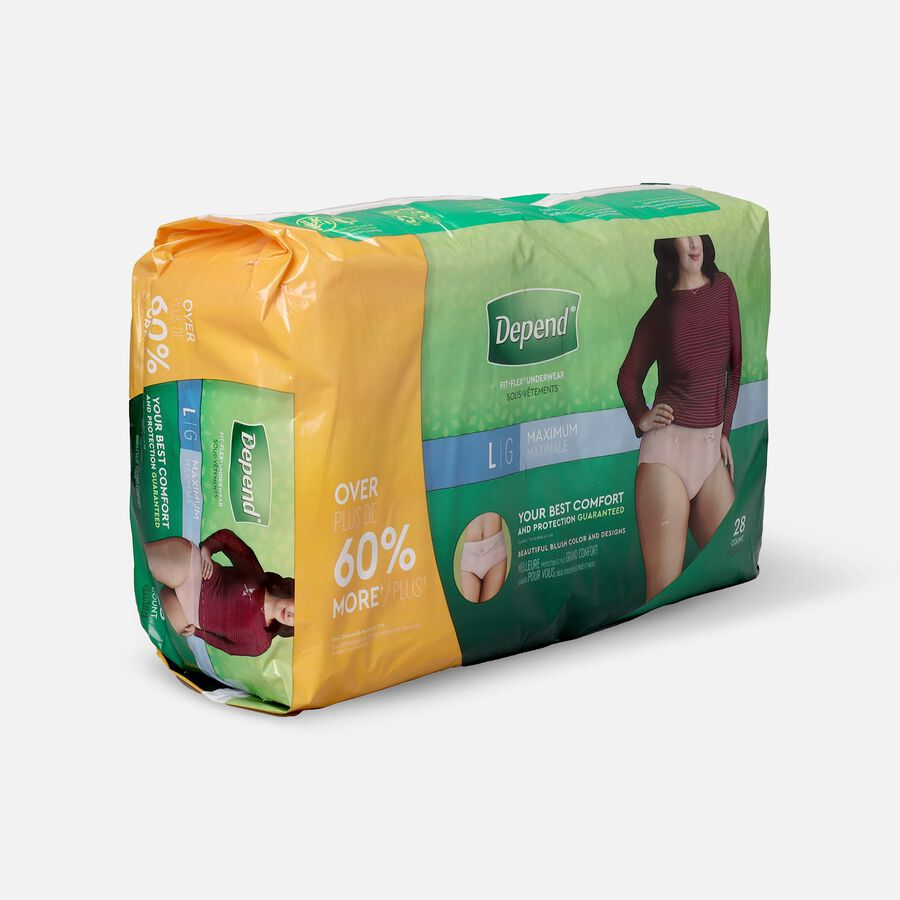 Depend FIT-FLEX Underwear, Maximum Absorbency, Large, 28 count, , large image number 1