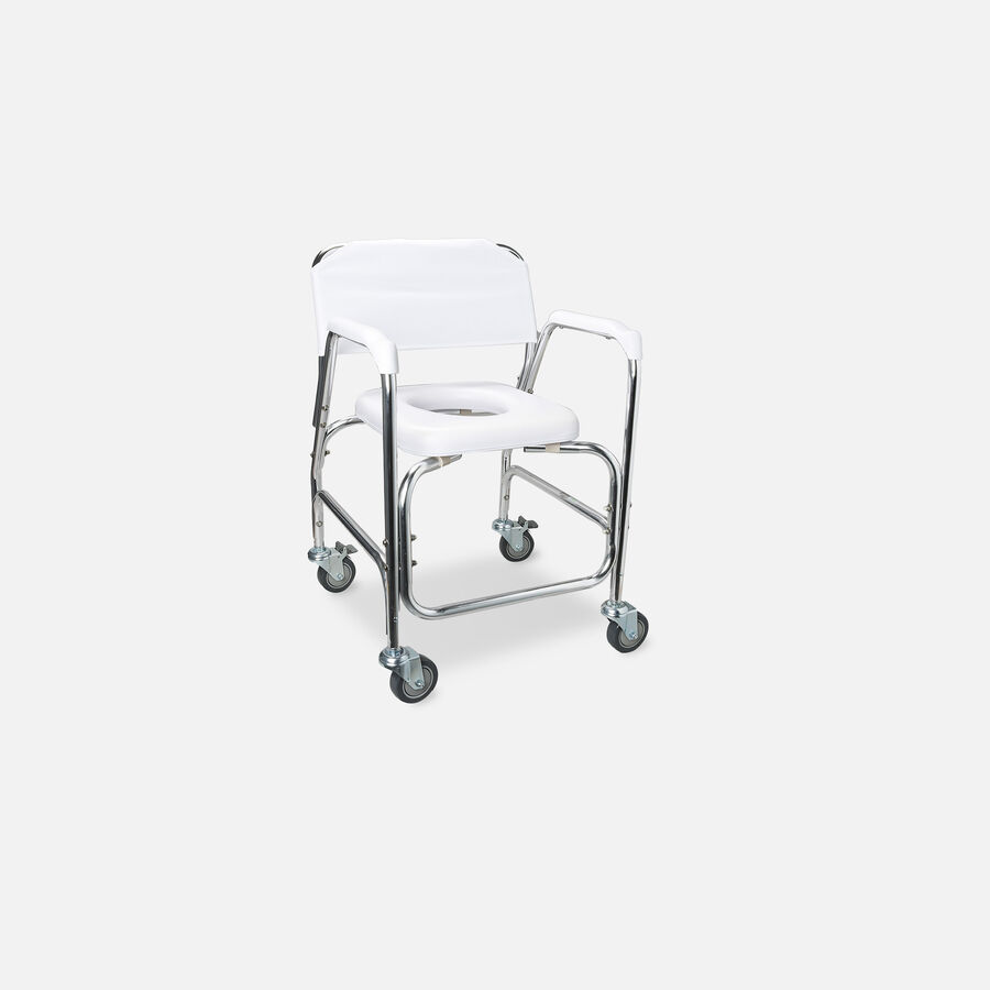 DMI Shower Transport Chair, w/Rear Wheels And Brakes, , large image number 1