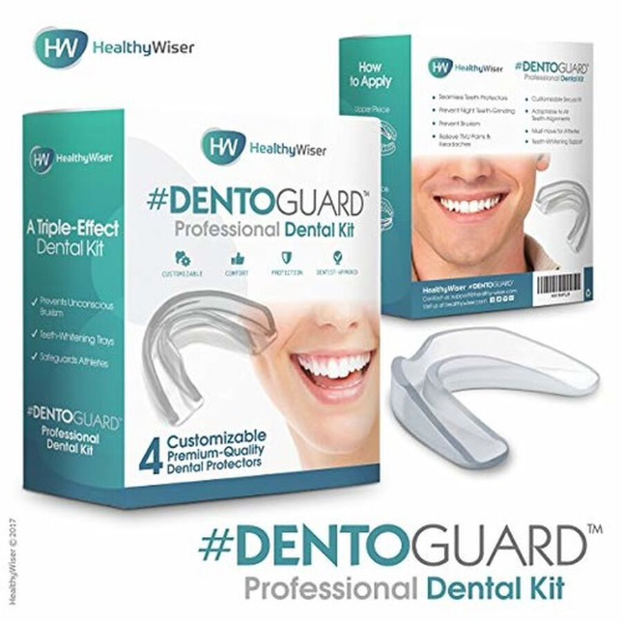 HealthyWiser DentoGuard Mouth Guard - 4ct, , large image number 1