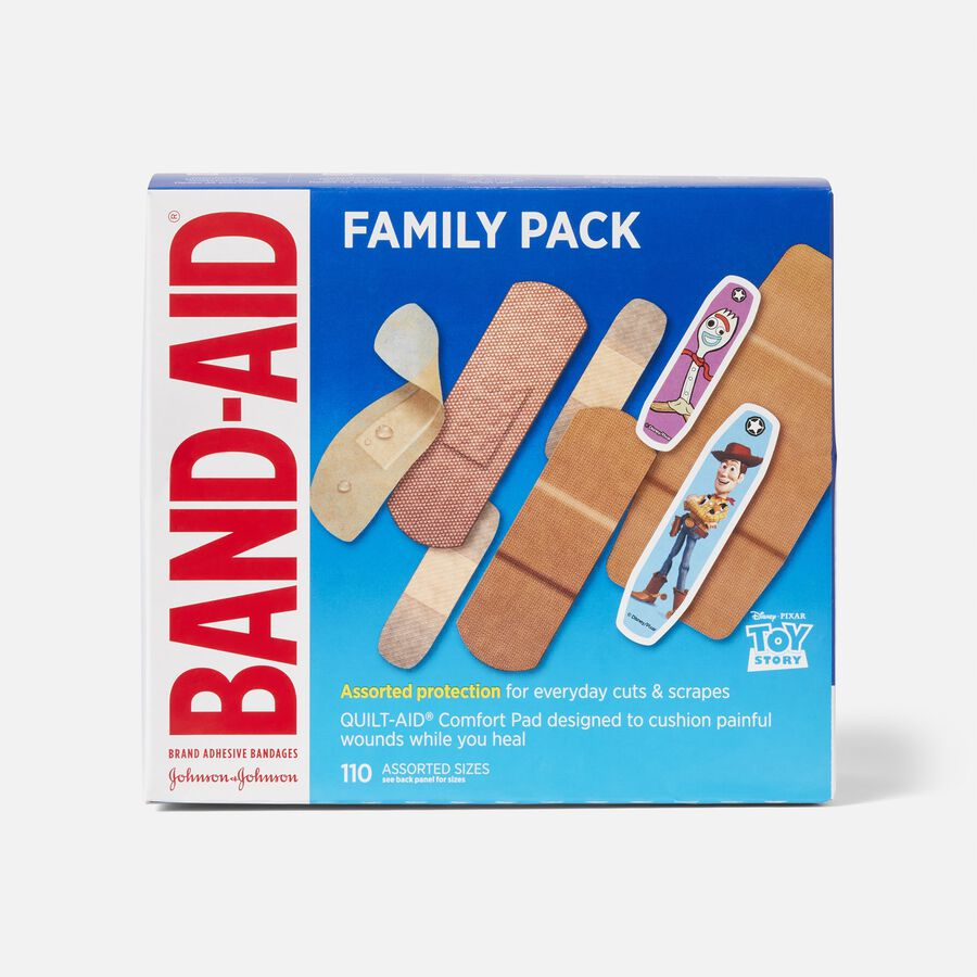 Band-Aid Family Pack Adhesive Bandages, 110 ct, , large image number 0