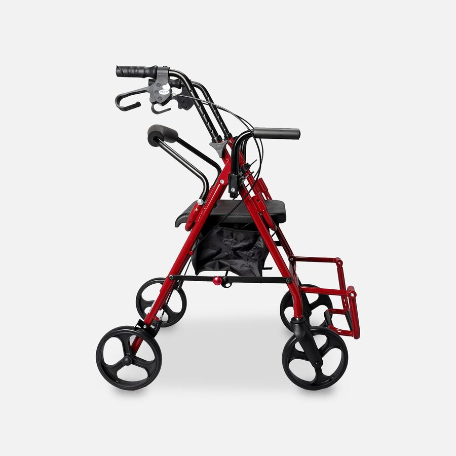 Drive Duet Rollator/Transport Chair, Burgundy, , large image number 2