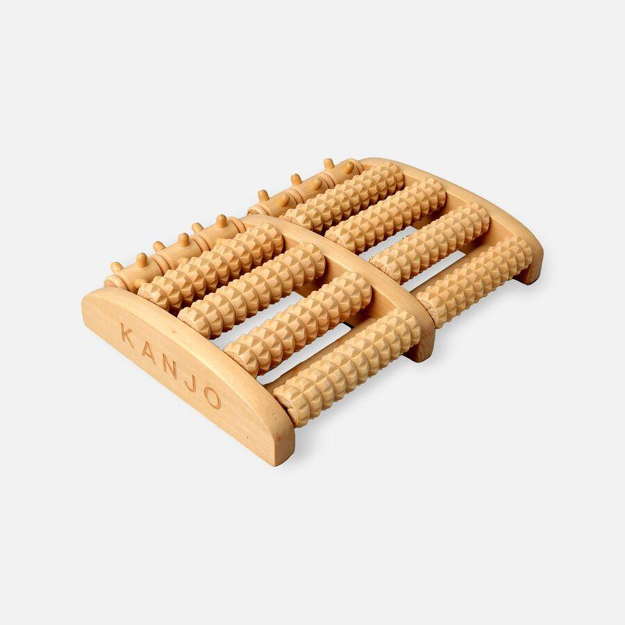 Kanjo Acupressure Foot Pain Relief Multi Roller, Wood, Relieves Plantar Fasciitis, Heel & Arch Pain, , large image number 1